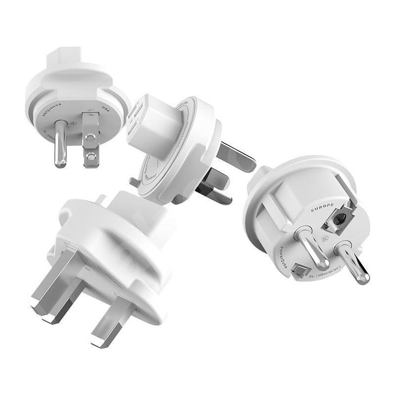 PowerCube Rewirable - 5 x zásuvka + Sada TravelPlugs - fialová