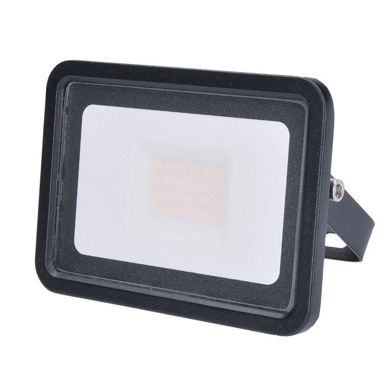 LED venkovní reflektor Eco - 20W, 1300lm, 4000K, černý - Solight (WM-20W-K)