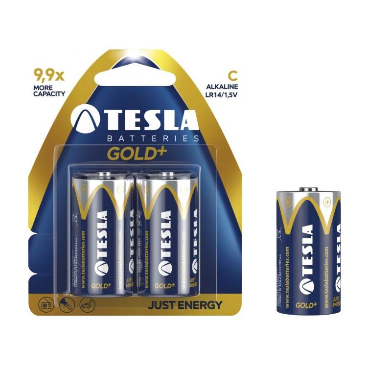 Alkalická baterie TESLA GOLD+ C/LR14 (2 ks) - Tesla batteries (1099137021)