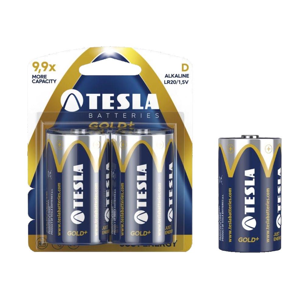 Alkalická baterie TESLA GOLD+ D/LR20 (2 ks) - Tesla batteries (1099137024)