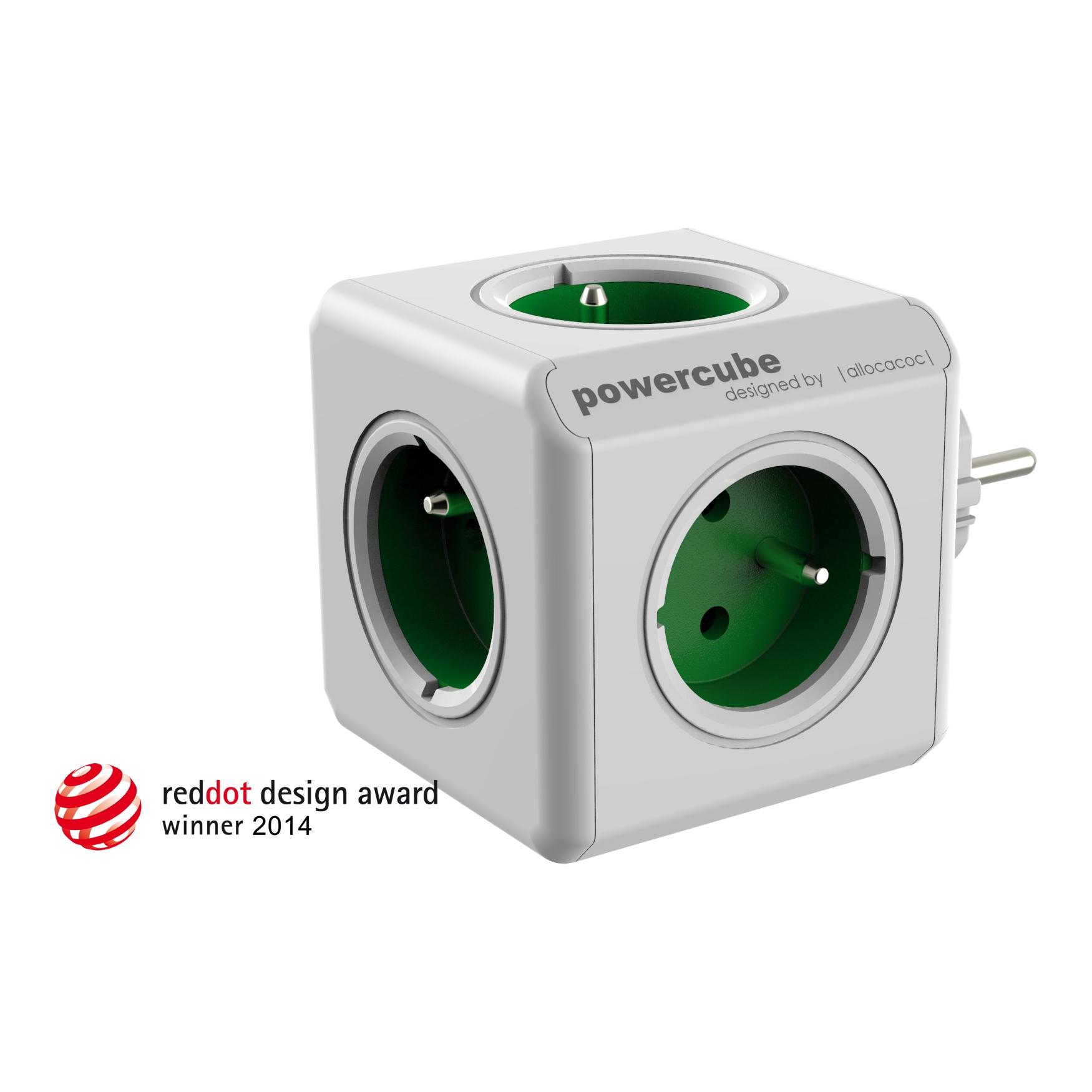 PowerCube Original - 5 x zásuvka - zelená