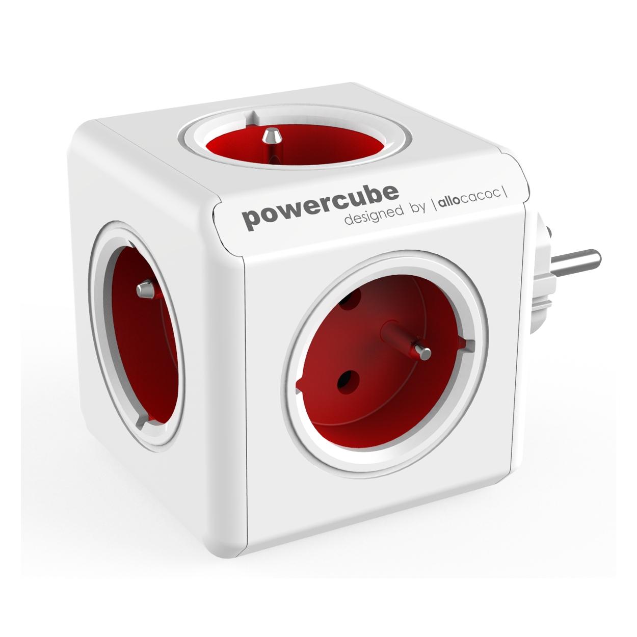 PowerCube Original - 5 x zásuvka - červená