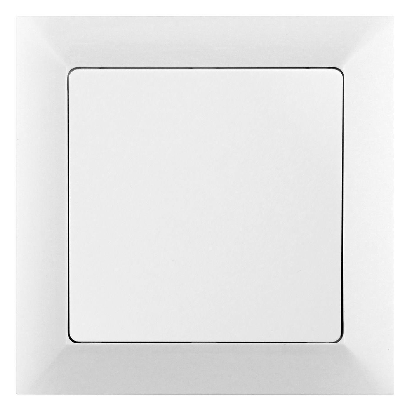 Vypínač PREMIUM VP-6/S - řazení 6, střídavý/schodišťový, podsvícení, bílý - Greenlux (GXKP028)
