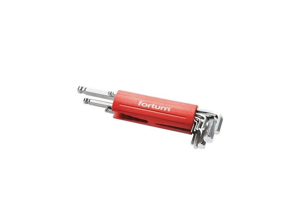 FORTUM Kľúče imbus zástrčné, 1,5-10mm, 9-dielna sada