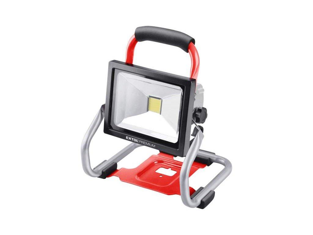 EXTOL Reflektor akumulátorový 20V + akumulátor a nabíjačka