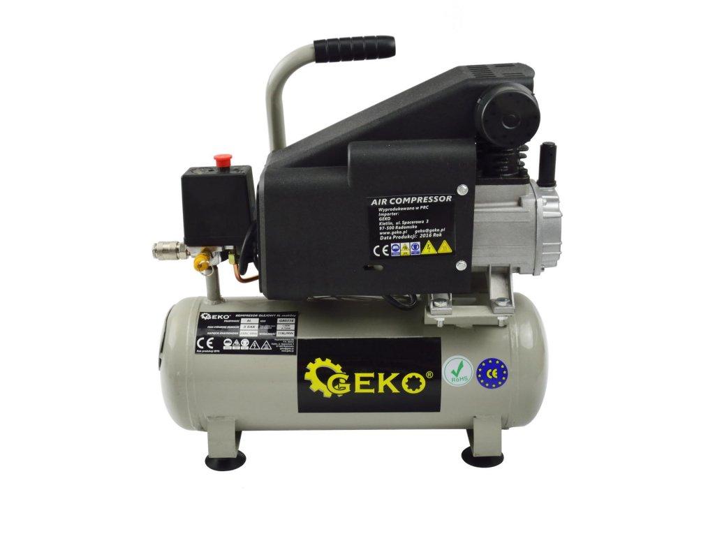 GEKO Kompresor olejový 1,5 kW, 118 l/min, vzdušník 8 litrov, tlak 8 barov