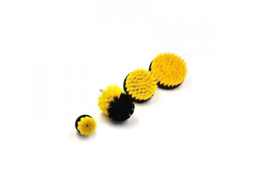 szczotki czyszczace na wiertarke 4szt trzpien 1 4