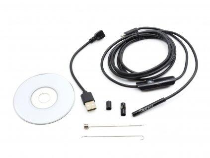 GEKO Kamera inšpekčná vodeodolná priemer kamery 5,5 mm USB, 6 LED diód, 2 m