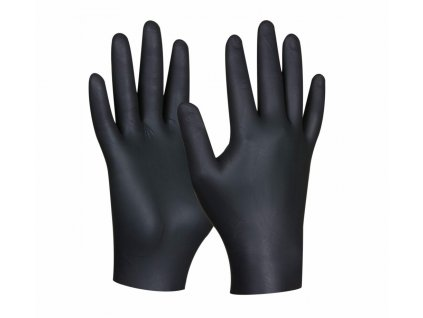 Pracovné rukavice GEBOL Black Nitril 80ks