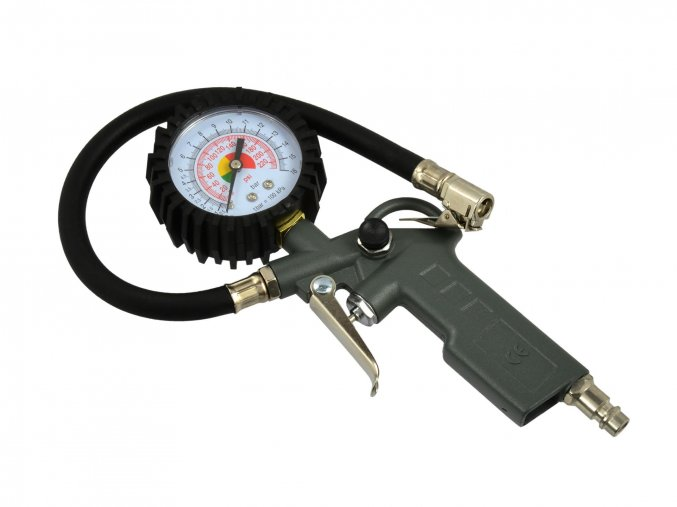 GEKO Pištoľ na plnenie pneumatík s manometrom