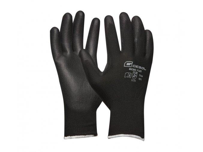 Pracovné rukavice GEBOL Micro Flex čierna