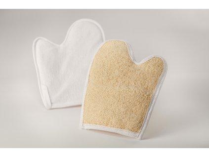 Masážní rukavice z přírodní lufy