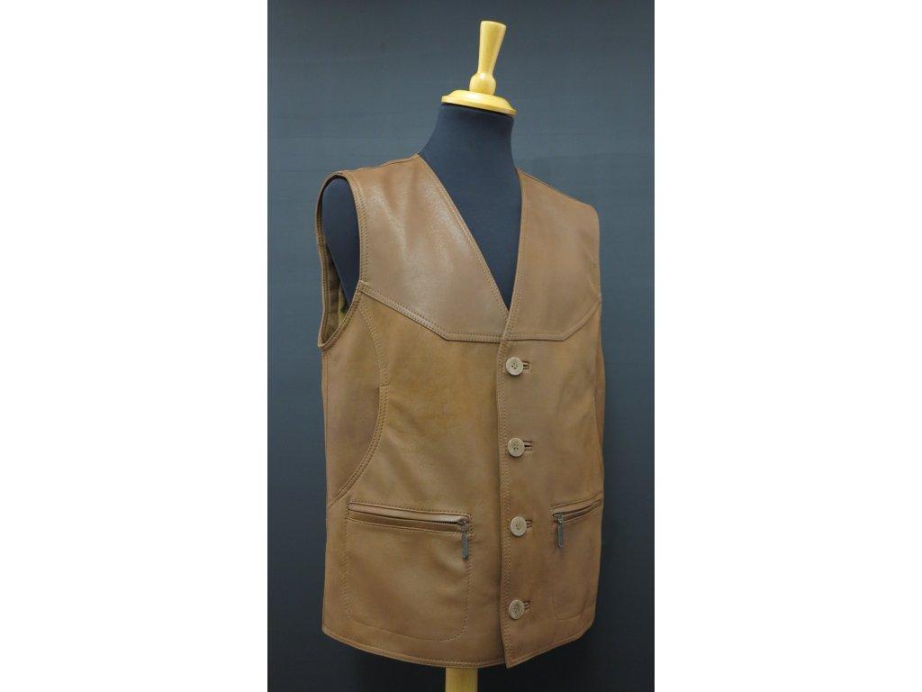 Pánské kožené vesty