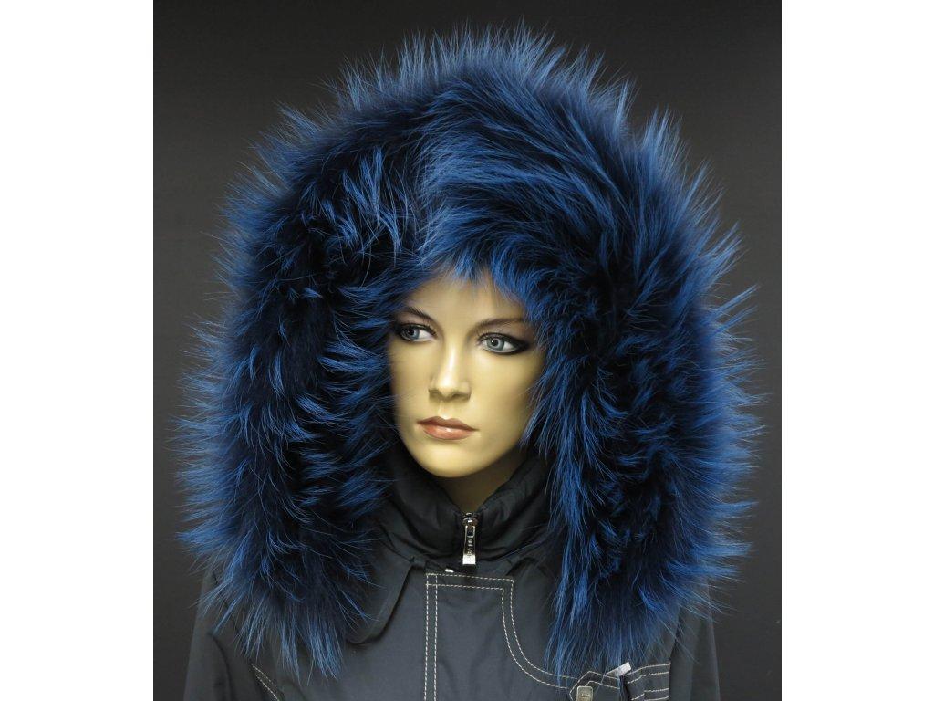 Kožešinový lem   límec na kapuci z finského mývalovce 1055 BLUE ... c8cc06c8f9
