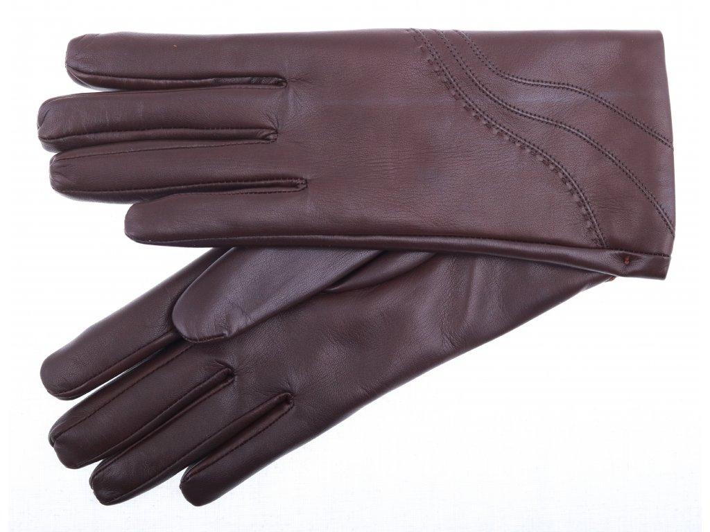d683f767920 Dámské kožené rukavice 4406 hnědé - Špongr.cz