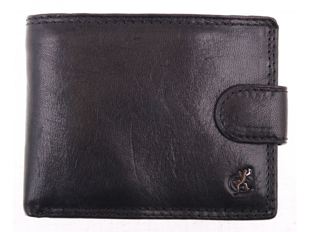 Pánská kožená peněženka Cosset 4487 Komodo černá