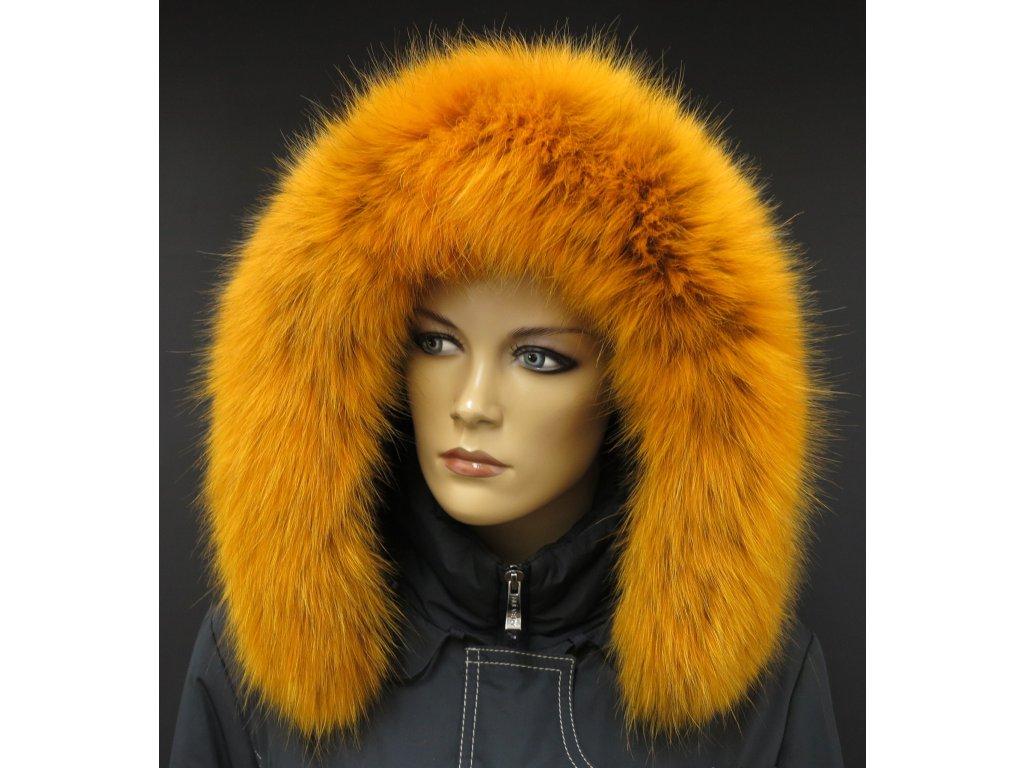 Kožešina lem / límec na kapuci z finského mývalovce 10020 ŽLUTÁ