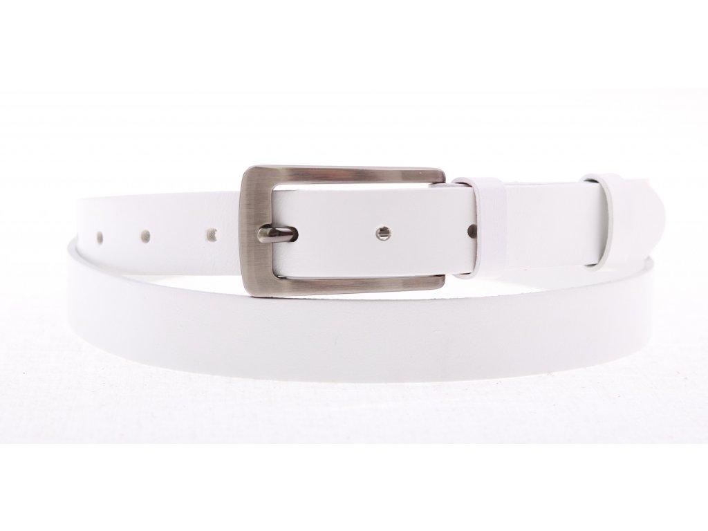 Dámský kožený opasek Penny Belts 2519 bílý