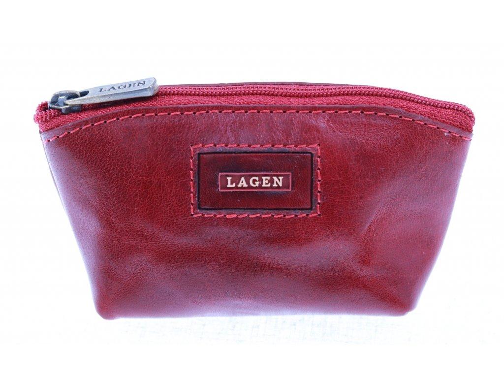 Kožená klíčenka Lagen 5540 červená