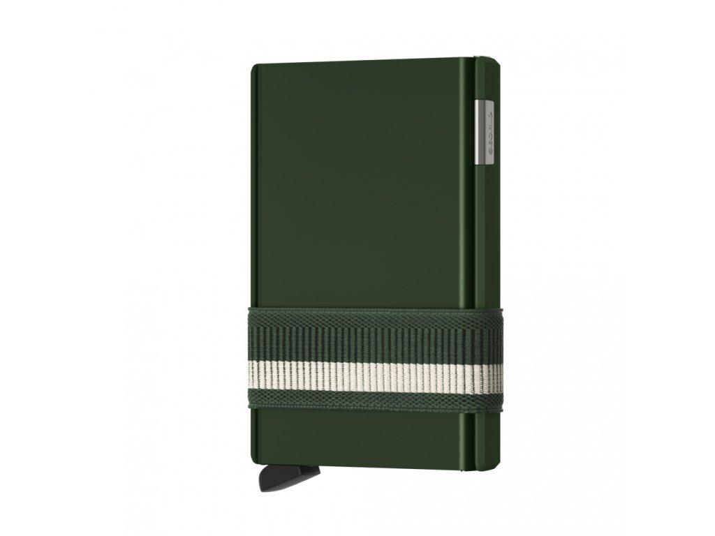 SECRID Cardslide Green zelená hliníková peněženka