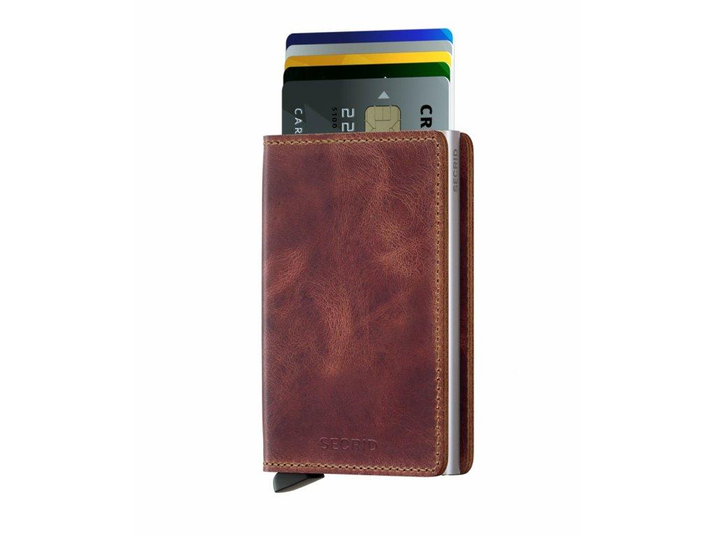 kožená peněženka na karty s rfid ochranou proti krádeži