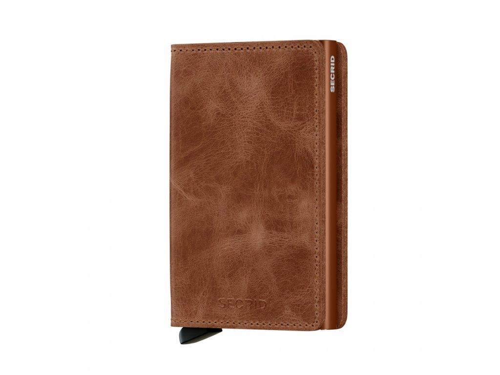 Kožená peněženka SECRID Slimwallet Vintage Cognac Rust koňaková