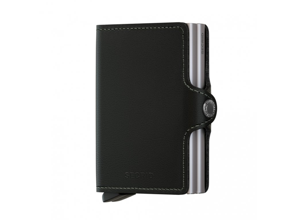 Kožená peněženka SECRID Twinwallet Original Black černá