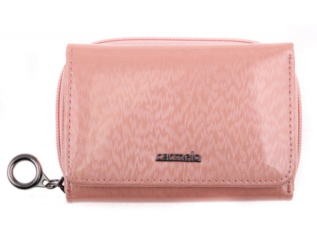 Dámská kožená peněženka Carmelo 2105H růžová