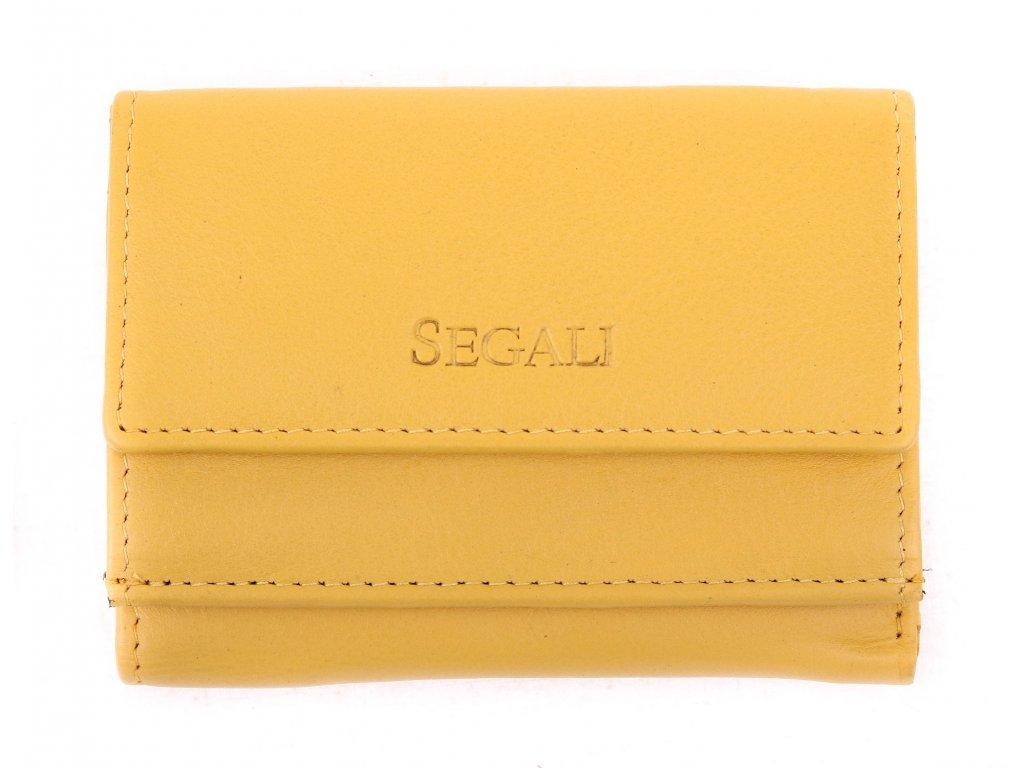 kožená peněženka Segali SG1756 MINI žlutá