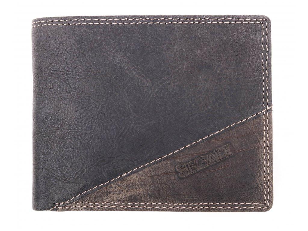 Pánská kožená peněženka Segali 1301/K černošedá