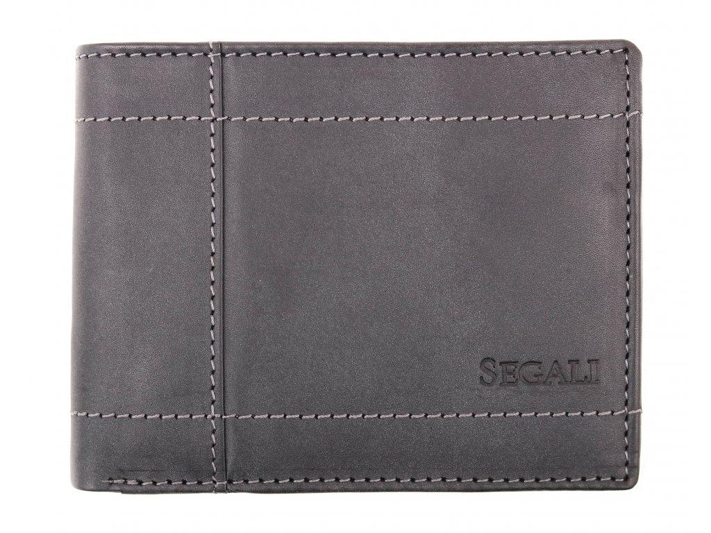 Pánská kožená peněženka Segali W70085 šedá