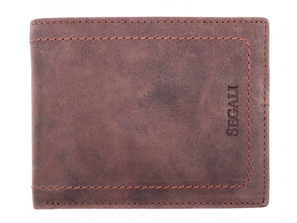 Pánská kožená peněženka Segali 7067 hnědá