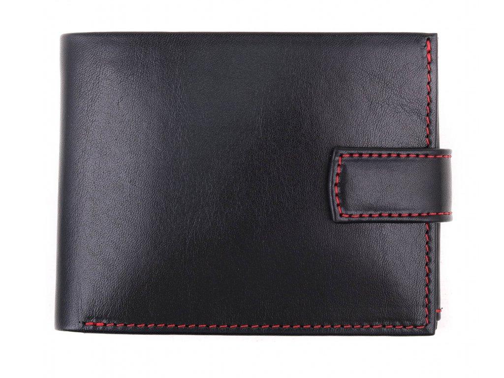 Pánská kožená peněženka Hajn 587459.5 černá + červená