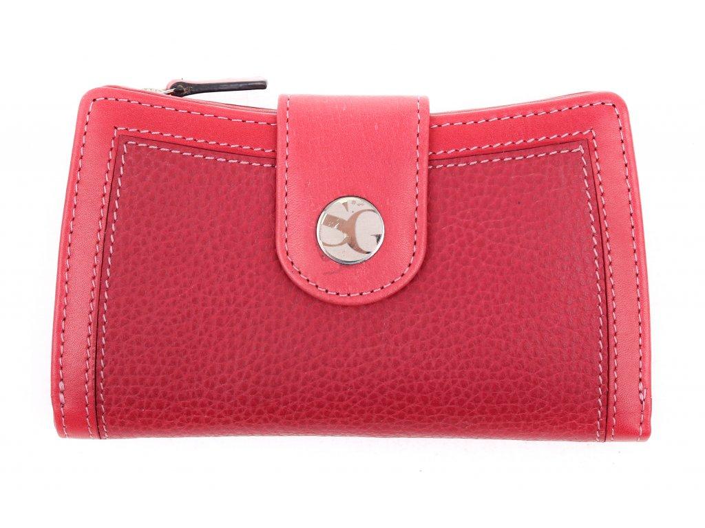 Dámská kožená peněženka Segali SG 7053 karmínově červená
