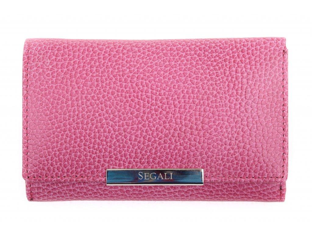 Dámská kožená peněženka Segali SG 7074 fuchsiová