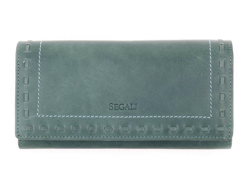 Dámská kožená peněženka Segali SG - 7052 zelená