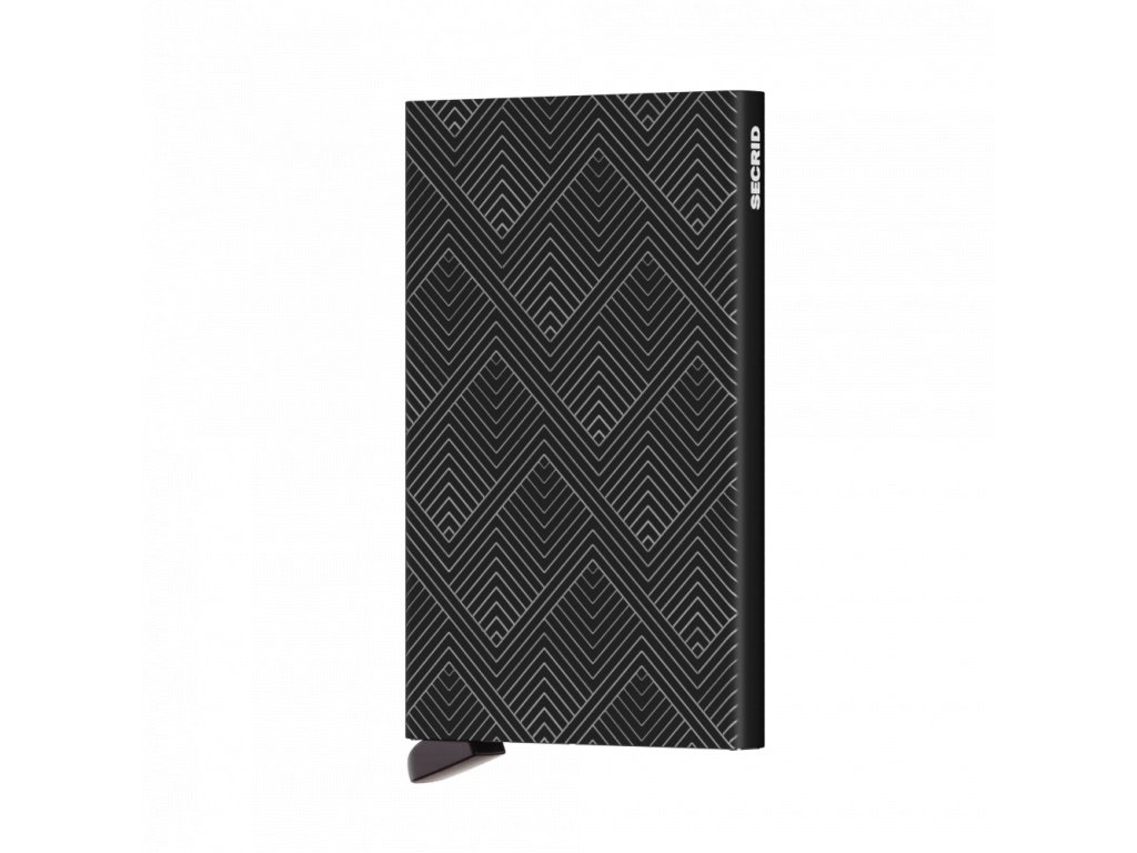 Pouzdro na karty Cardprotector SECRID Laser Structure Black černé se vzorem