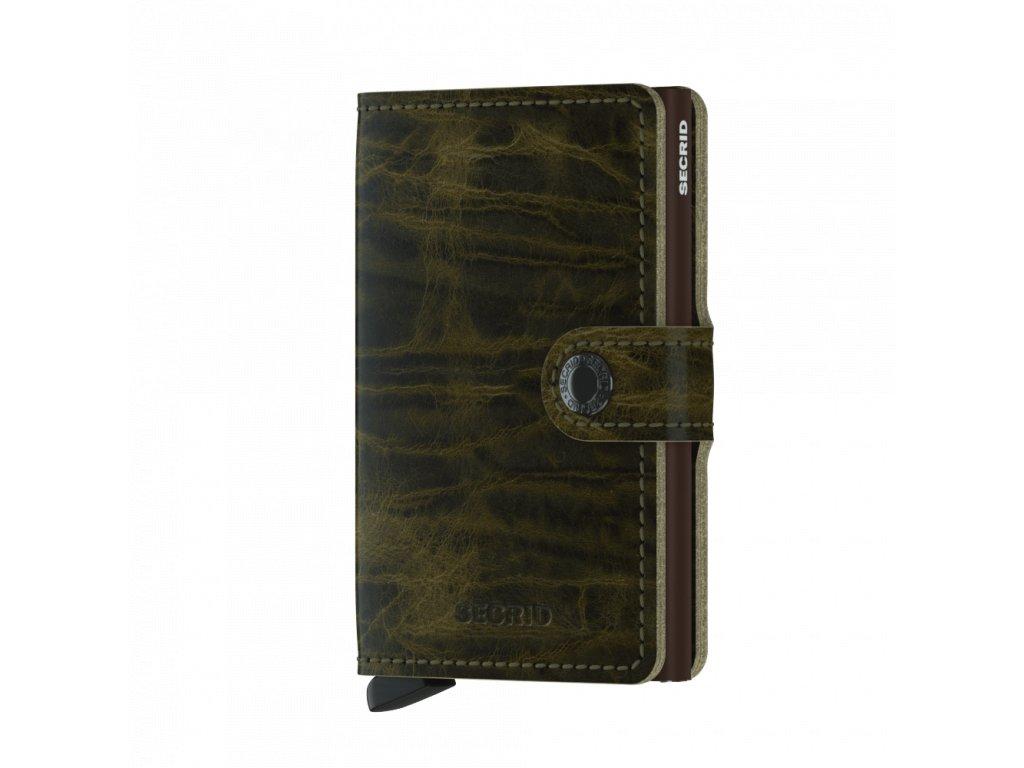 Kožená peněženka SECRID Miniwallet Dutch Martin Olive zelená
