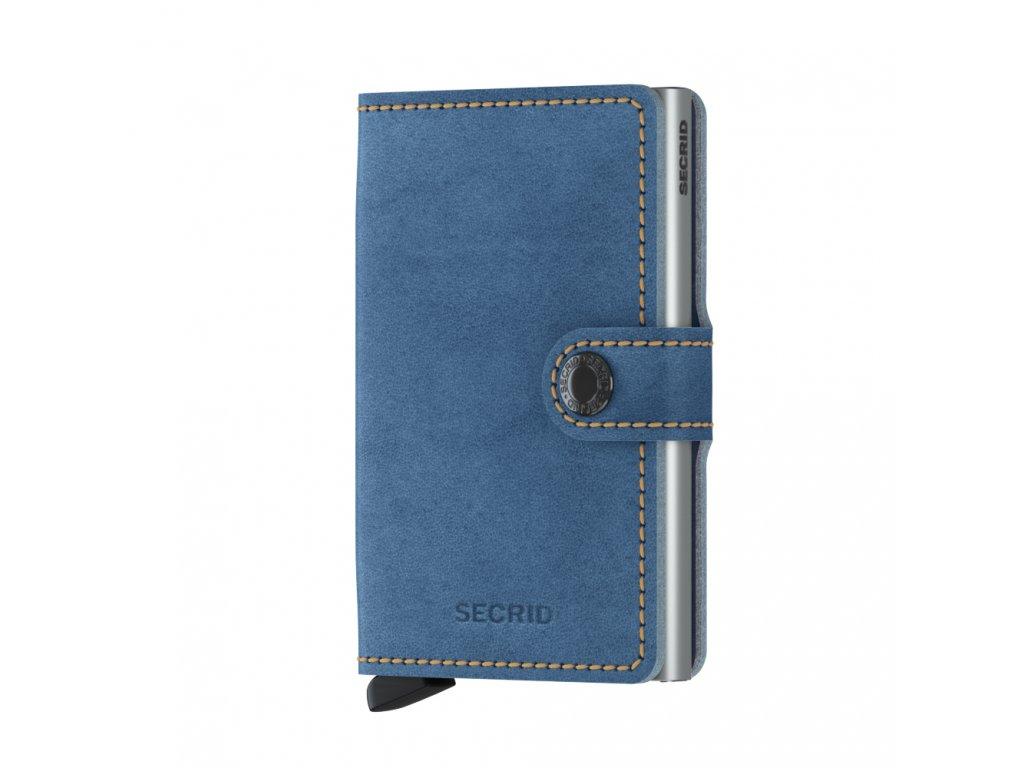 Kožená peněženka SECRID Miniwallet Indigo modrá světle džínová