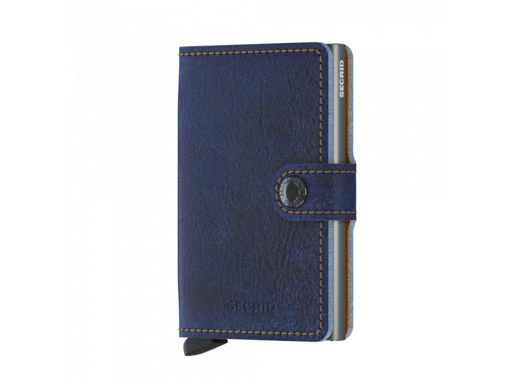 Kožená peněženka SECRID Miniwallet Indigo Titanium modrá tmavě džínová