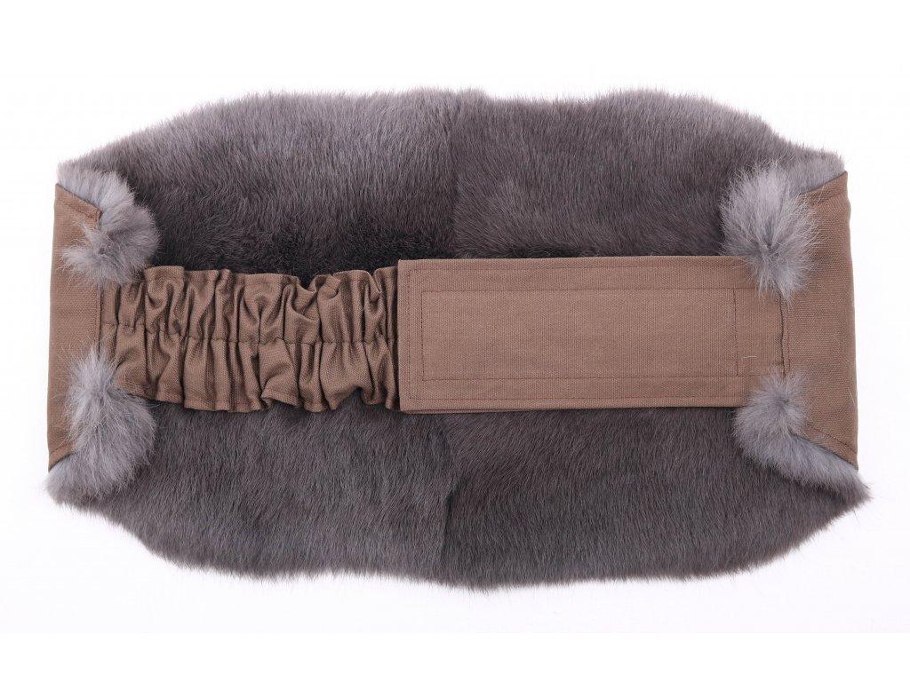 Ledvinový pás kožešinový LP90 velikost M králík
