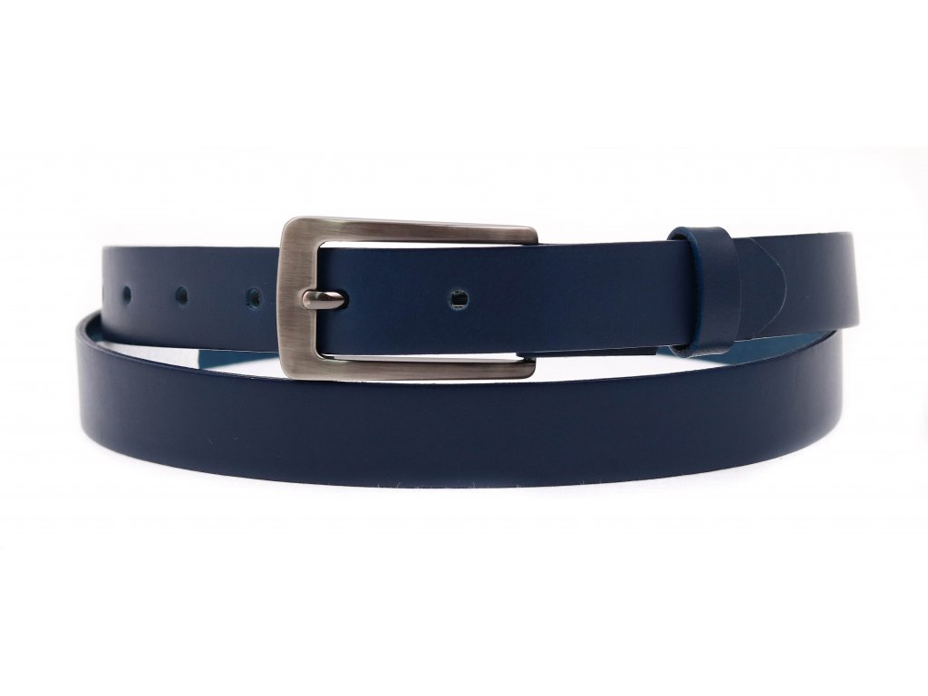 Dámský kožený opasek Penny Belts 2520 modrý