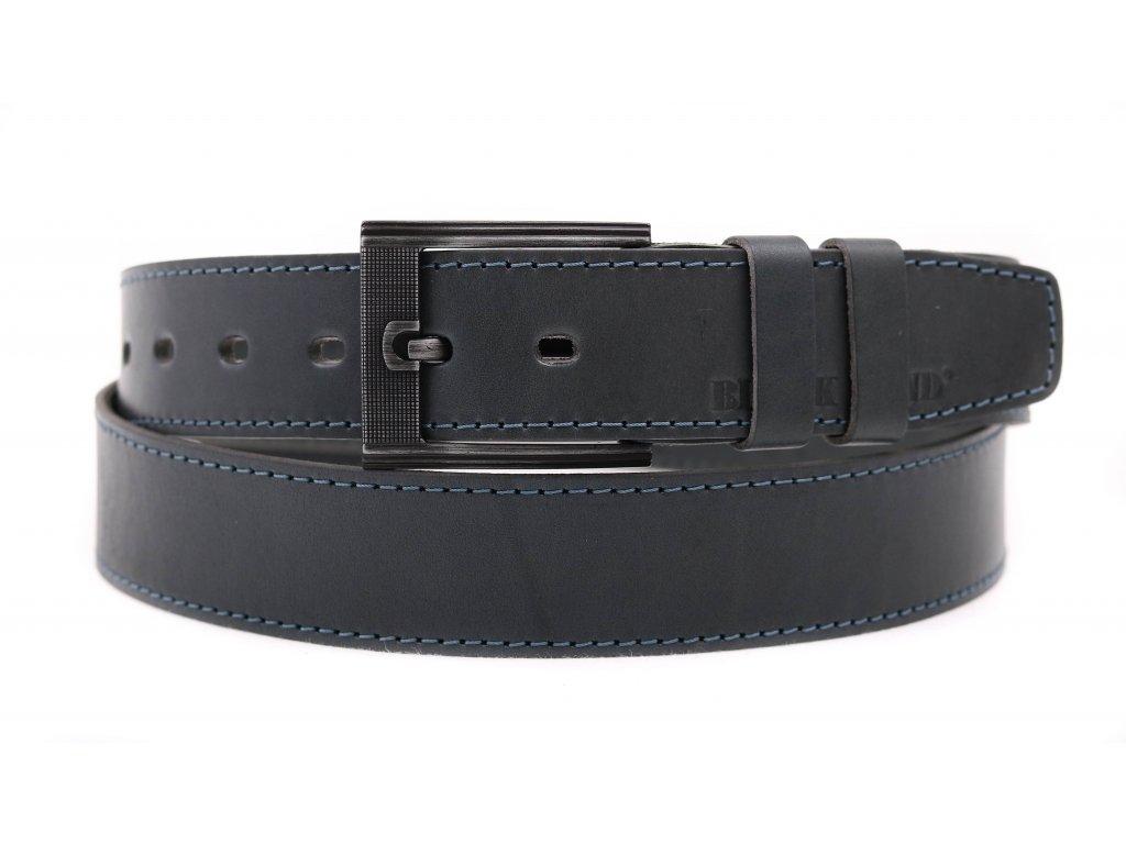 Pánský kožený opasek Black Hand 128-48 šedý