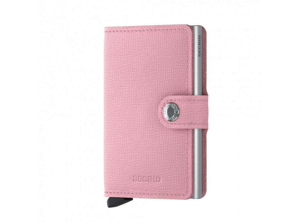 Kožená peněženka SECRID Miniwallet Crisple Pink růžová