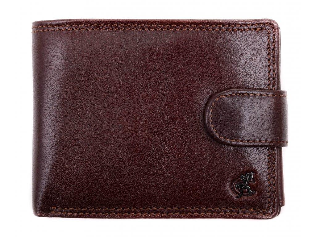 Pánská kožená peněženka Cosset 4487 Komodo hnědá