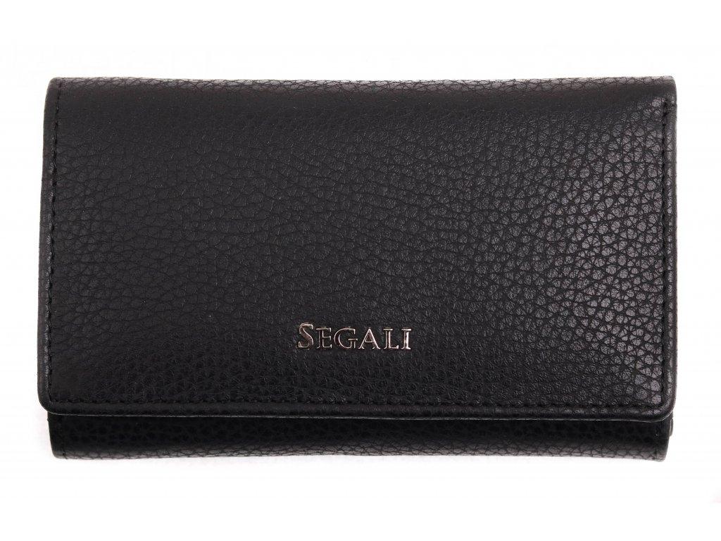 Dámská kožená peněženka Segali SG 7074 černá