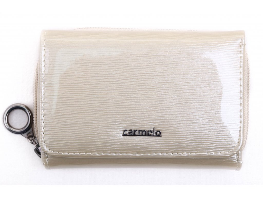 Dámská kožená peněženka Carmelo 2105 krémová