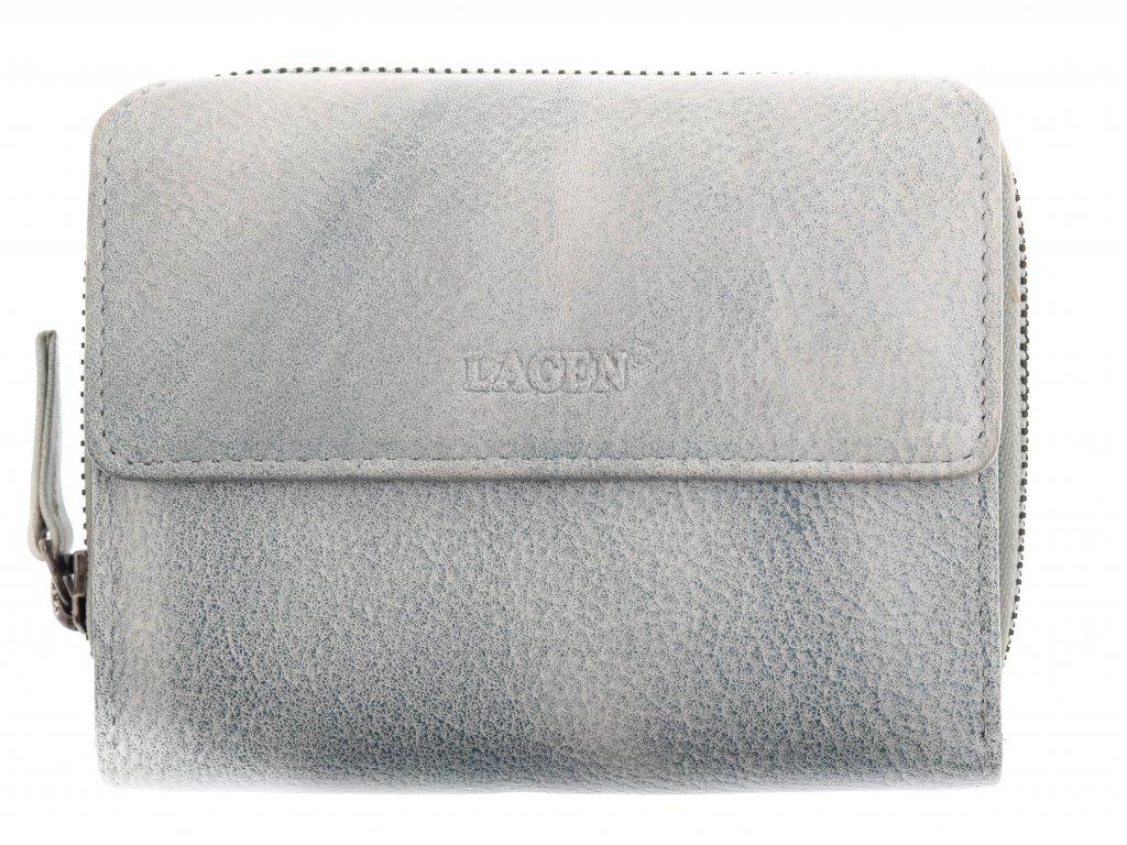 Dámská  kožená peněženka Lagen 932 Ocean Blue světle modrá