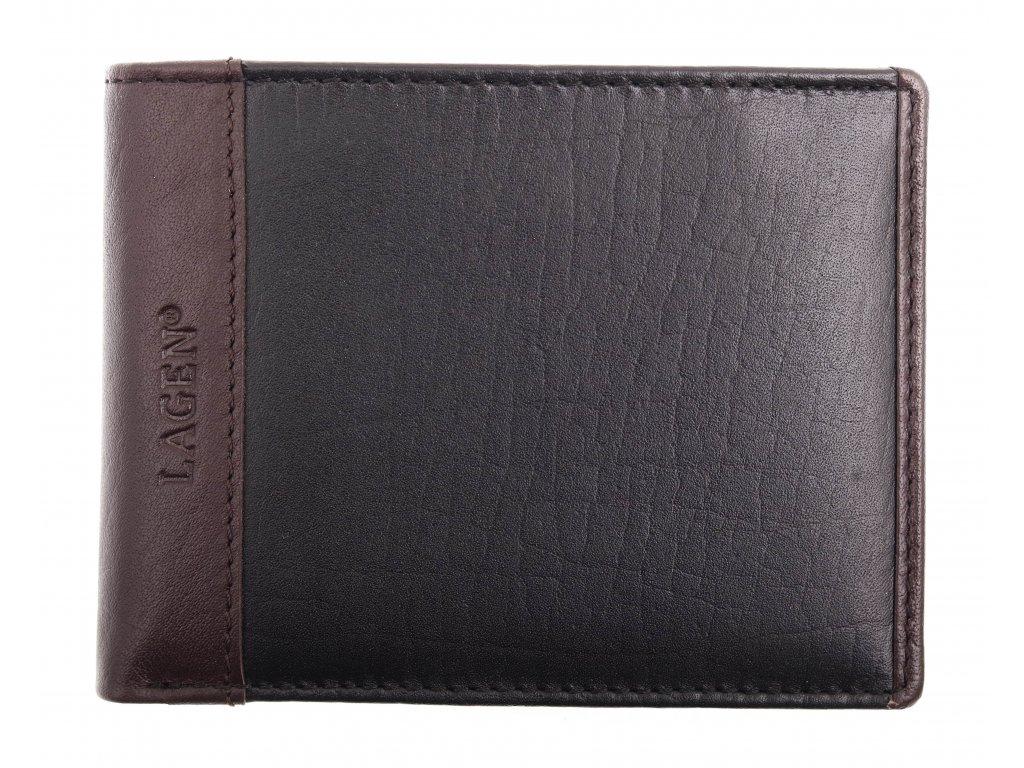 Pánská kožená peněženka Lagen 5433 Black Brown