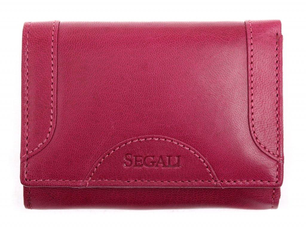 Dámská kožená peněženka Segali SG 7196 fuchsia